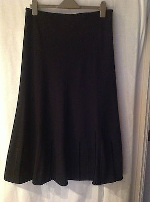 M & S Black Skirt with details Size 14