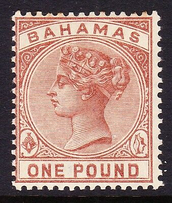 Bahamas 1884-90 £1 Venetian Red Sg 57 Mint.