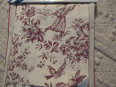 A Glorious French Manufacturer's Toile De Jouy Fabric Card Of Samples