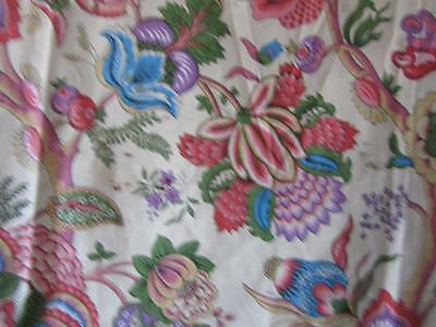 A Stunning  Length Of Vintage French Chintz Fabric In An Arts And Crafts Design