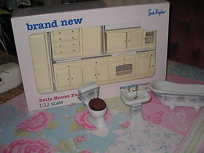 1:12 scale dolls house miniature kitchen Set and Bathroom