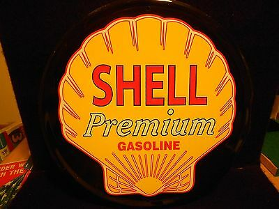 Shell Premium Gasoline Metal Sign