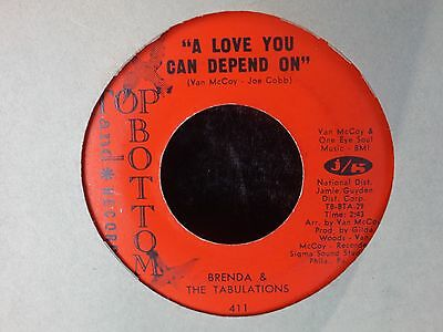 """BRENDA & the TABULATIONS a love you can depend on US 7"""" EX northern soul"""