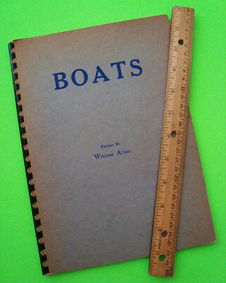rare 1937 BOATS, SELECTED ARTICLES & UNPUBLISHED PLANS by Atkin YACHT BOOK + ADS