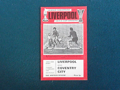 Liverpool V Coventry City Football Programme 1974