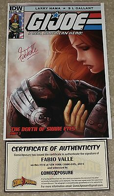 G.i. Joe 214 Fabio Valle Signed Re Exclusive Variant Death Of Snake-Eyes Rare