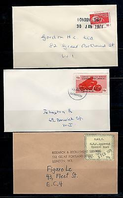 b1) 1971 London strike Post 6x stamps/letters fake