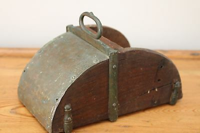 Unusual Vintage Metal Wooden Box Horseriding Stirrup - Decor Wall Art