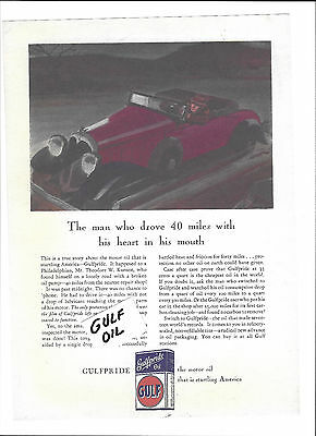 Gulf Oil 1933 May-June  Poster