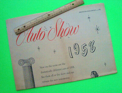 Giant 1958 CHICAGO AUTO SHOW NEWSPAPER Compl Section 12-pgs DALE ROBERTSON BUICK