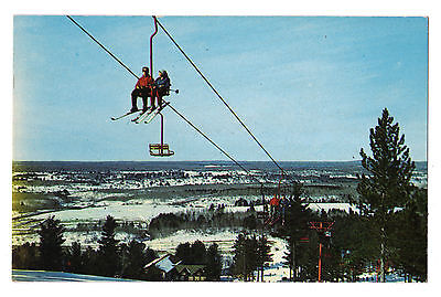 Michigan postcard Iron Mountain, Pine Mountain aerial chairlift skiing