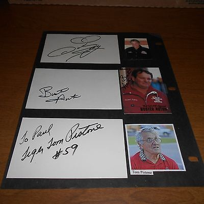 2 Mike Chase 2 Buster Auton Tom Pistone Don 'The Snake' Prudhomme Signed 6 Items