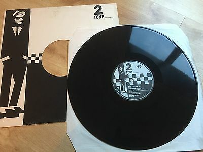 "The Specials Ghost Town Chs Tt1217 Rare 2 Tone 12"" Vinyl Record"