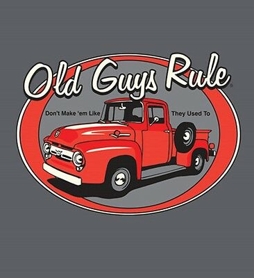 """Old Guys Rule """" Red Truck """" """" Don't Make Them Like They Used To  V8 S/s Size  2X"""