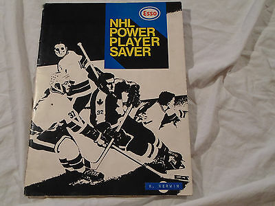 Esso 1971 NHL Hockey Stamp Album Every Stamp Pasted 36 Pages Power Player Saver