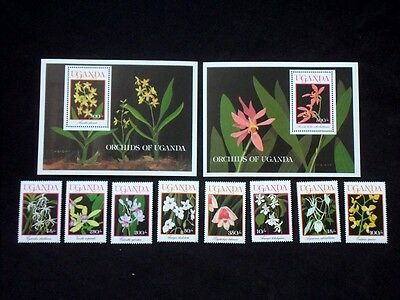 Uganda 1989 Orchids Unmounted MINT Stamps & Minisheets SG 778-786