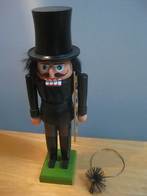 Vintage German Wooden Nut Cracker Chimney Sweep 11.5 Inches Tall