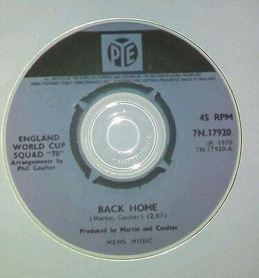 England World Cup  Football Song Back Home   On Cd