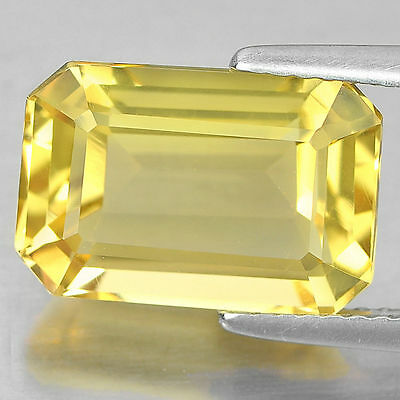 A PAIR OF 7x5mm OCTAGON-FACET NATURAL AFRICAN LEMON CITRINE GEMSTONES £1 NR!