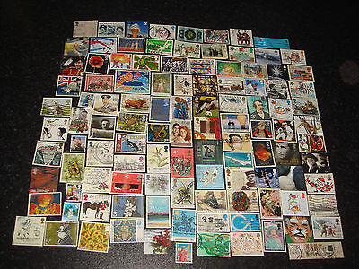 110 GB COMMEMORATIVE Used stamps - Off Paper - All Different