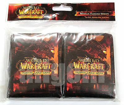 WORLD OF WARCRAFT WOW TCG 80 Bustine Deck Protector Sleeves DEATHWING Official
