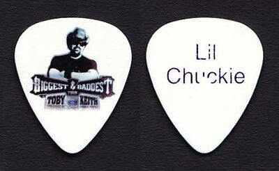 """Toby Keith Chuck """"Lil Chuckie"""" Goff White Guitar Pick - 2008 Tour"""