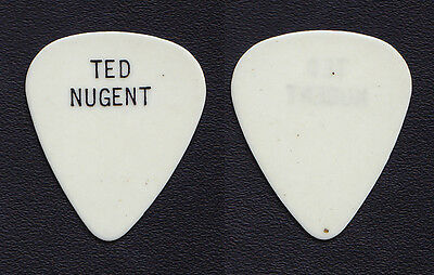 Vintage Ted Nugent White Guitar Pick - 1970s Tours