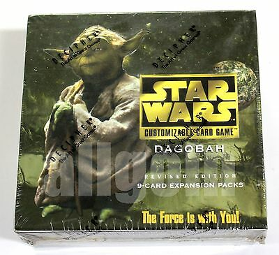 STAR WARS CCG Card Game DAGOBAH REVISED EDITION Booster Box 30 Bustine NEW RARE