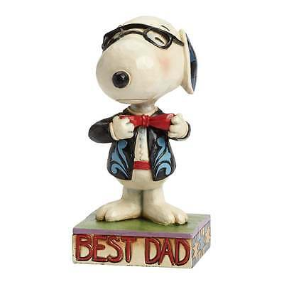 Jim Shore Peanuts Best Dad Well Dressed Snoopy Figurine New 4043615