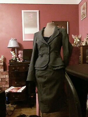 Next grey jacket skirt for fitted smart suit  size 12