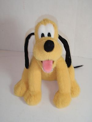 "Walt Disney World Dream Friends Pluto 8"" Plush Bean Bag Toy Rhinestone Collar"