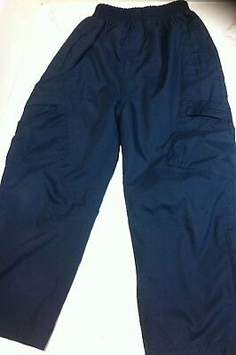 Boys Navy Lined Warm Winter Trousers, Age 5-6 By Peter Storm
