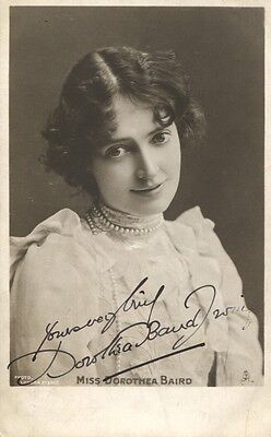 "DOROTHEA BAIRD (""Trilby""/""Mrs Darling"") Hand-signed early 1900s postcard"