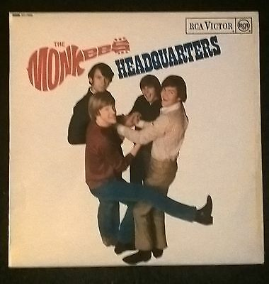 THE MONKEYS vinyl LP Headquarters  1967 Mono Good condition