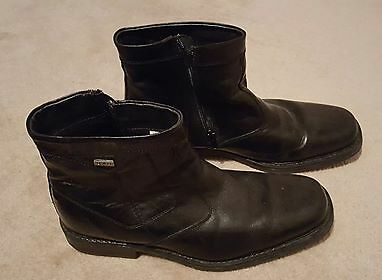 Mens D-H Leather Boots, Black, used but great, size 42