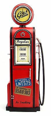 GAS PUMP GASOLINE with CLOCK blechmodell tanksaule