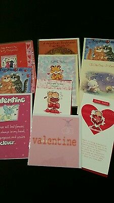 Job Lot 10 Quality Assorted Valentine Occassion Greeting Cards