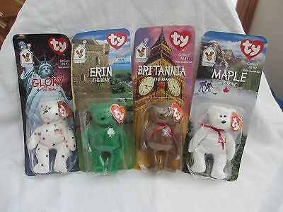 McDonald's Vintage 1999 Charity Bear Collection - All (4) New in Packaging