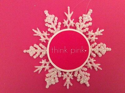 Breast Cancer Think Pink Ornament NEW