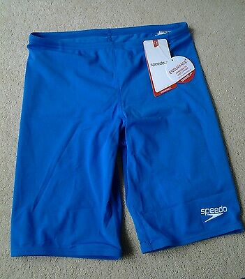 *NEW* Mens Speedo ENDURANCE Light Blue Swimming Jammers/Shorts size 34""