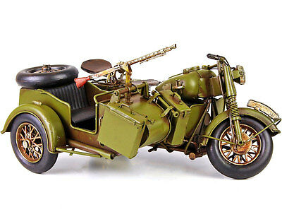 BLECHMODELL 2.WK BEIWAGENKRAD MILITARY MOTORCYCLE MOTORRAD BEIWAGENGESPAN mit MG