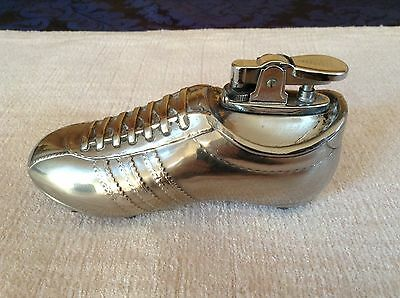 Silver Coloured Football Boot Table Lighter