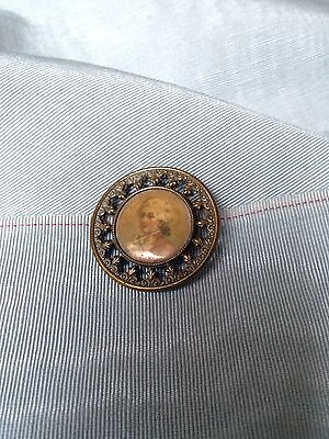 Pretty Antique 19Th Century Mozart Gilt Button