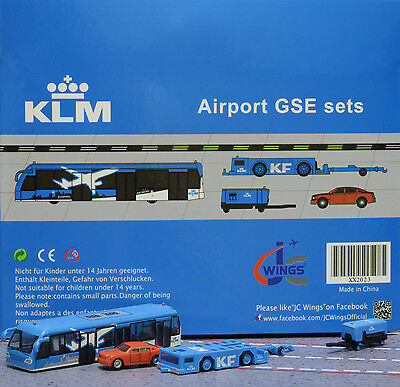 JC Wings 1/200 KLM Airport GSE Set 3 XX2023 miniature vehicles