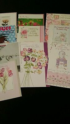 Job Lot 10 Quality Assorted Mothers Day  Occassion Greeting Cards