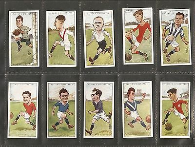"John Player & sons- Football Caricatures by ""RIP"" (1926) Full set of 50 cards"