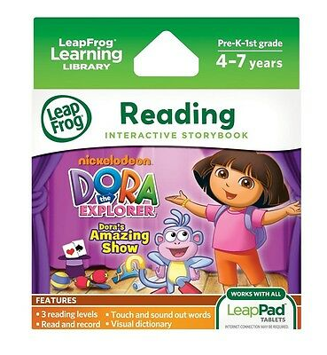 LeapFrog LeapPad DORA'S AMAZING SHOW Ultra eBook (for all LeapPad tablets) ~NEW~