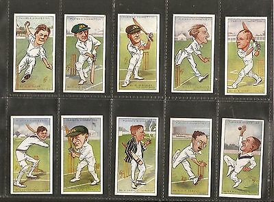John Player & sons- Cricket Caricatures by R.I.P (1926) Full Set of 50 Cards