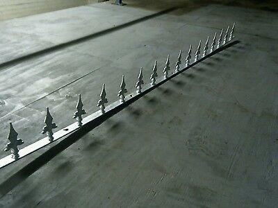 1 Metre galvenized Security / Decorative Wall Top Spikes