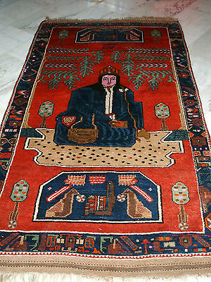 Old Nur Ali Shah Schah Turkmen  Signed Dated Turkmene Tapis Ancien Russie Kordi